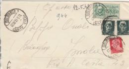 LETTERA 1941 2X15+20+1,25 ESPRESSO TIMBRO ROMA APPIO IMOLA CASSA  (IX1090 - 1900-44 Vittorio Emanuele III