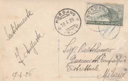 CARTOLINA 1926 20 C. S.FRANCESCO TIMBRO MORSANO - FOTO DONNA (IX1091 - 1900-44 Vittorio Emanuele III