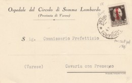 LETTERA 1944 RSI C.30 SS -TIMBRO CON 4 ROVESCIATO (IX1115 - 4. 1944-45 Repubblica Sociale