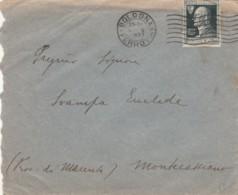 LETTERA 1927 50 C. VOLTA TIMBRO BOLOGNA MONTECASSIANO MACERATA (IX1086 - 1900-44 Vittorio Emanuele III