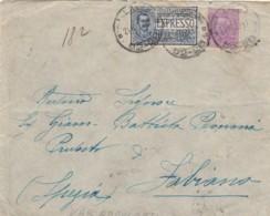LETTERA 1928 50 C. +1,25 ESPRESSO TIMBRO AMBULANTE TORINO ROMA  (IX1079 - 1900-44 Victor Emmanuel III