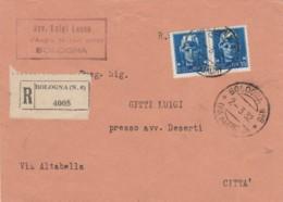 RACCOMANDATA 1932 2X35 C. (RARI SU BUSTA) TIMBRO BOLOGNA (IX1067 - 1900-44 Victor Emmanuel III
