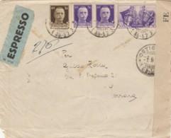 ESPRESSO 1941 1,25+50 FRATELLANZA D'ARMI TIMBRO MANTOVA FERRARA -CENSURA (IX1161 - Poststempel