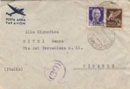 LETTERA 1943 PM 99 50+50 PA SS PM -CENSURA (IX948 - 1900-44 Vittorio Emanuele III
