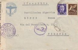 LETTERA 1943 PM 99 50+50 PA SS PM -CENSURA (IX949 - 1900-44 Vittorio Emanuele III