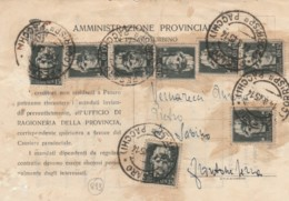 CARTOLINA POSTALE 1945 LUOGOTENENZA 8X15 C. TIMBRO PESARO FRONTONE SERRA (IX1031 - Storia Postale