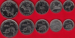 Eritrea Set Of 5 Coins: 1 - 100 Cents 1997 AU - Erythrée