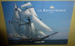 """Carte Postale édition """"Cart'Com' - La Recouvrance (Brest) Goélette à Humiers (bateau - Voilier) - Publicité"""
