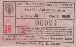 ** AZIENDA TRANVIARIA DI FIRENZE.-** - Mondo