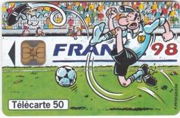 TC137 TÉLÉCARTE 50 UNITÉS - FOOTBALL FRANCE 98 - COLLECTION BD - LE FOOTBALL VU PAR 4 DESSINATEURS - MARGERIN - Sport