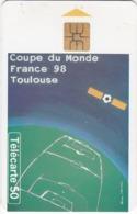 TC143 TÉLÉCARTE 50 UNITÉS - FOOTBALL - 10 VILLES ACCUEILLENT FRANCE 98 - TOULOUSE AU STADIUM MUNICIPAL - Sport