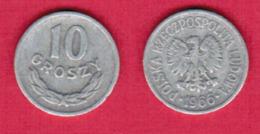 POLAND  10 GROSZY 1966 (Y # AA47) #5448 - Pologne
