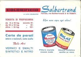 "5386 ""COLORIFICIO SALBERTRAND-TORINO ""  ORIGINALE - Visiting Cards"