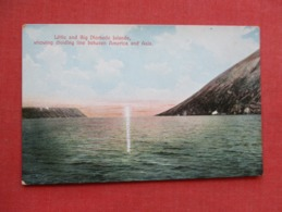 Little & Big Diomede Island Showing Line Between America & Asia    Ref 3647 - Postcards