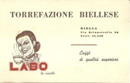 "5387 ""TORREFAZIONE BIELLESE -LABO LA MISCELA""  ORIGINALE - Visiting Cards"