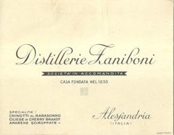 """5388 """" DISTILLERIE ZANIBONI - ALESSANDRIA""""  ORIGINALE - Cartoncini Da Visita"""