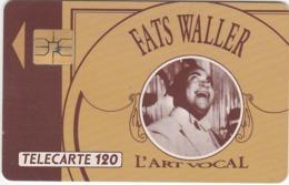 TC149 TÉLÉCARTE 120 UNITÉS - COLLECTION MÉCÈNE DE LA MUSIQUE VOCALE - JAZZ VOCAL CLASSIQUE - FATS WALLER - Musique