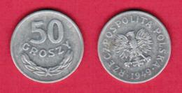 POLAND  50 GROSZY 1949 (Y # 44a) #5454 - Pologne