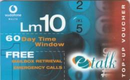 PREPAID PHONE CARD MALTA VODAFONE (E49.39.1 - Malte