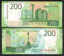 RUSSIA 200 Rub.   2017    Series  AA UNC - Rusia