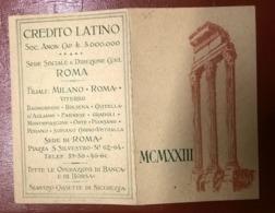 SEMESTRINO 1923 CREDITO ITALIANO - Groot Formaat: 1901-20