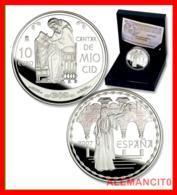 ESPAÑA MONEDA AÑO 2007 DEL CANTAR DEL MIO CID.. 10 EUROS. PLATA.PROOF. - España