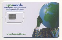 UKRAINE Unused Micro + Nano SIM Chip GSM Phone Card Lycamobile - Oekraïne