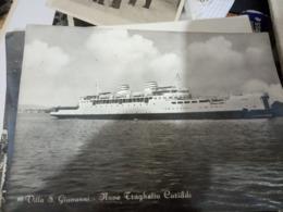 VILLA S SAN GIOVANNI NAVE SHIP FERRY TRAGHETTO CARIDDI    VB1956 HE591 - Reggio Calabria