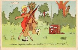 Illustrateur Jacques Faizant, Humour Militaire, Comme Caporal-radio - Faizant