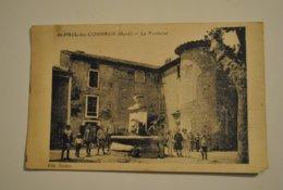 30 Gard Saint Paul Les Connaux La Fontaine Belle Animation Rare ( Abimee Coin Bas Droit ) - Autres Communes