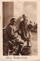 CT-02966- LIBIA - VENDITORI DI UOVA - VIAGGIATA 1936 - FRANCOBOLLO STRAPPATO - Africa