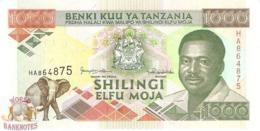 TANZANIA 1.000 SHILINGI 1993 PICK 27c UNC - Tanzania