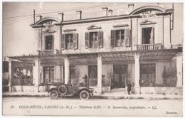 CAGNES-sur-MER (96) GOLF-HOTEL. PROPRIETAIRE B. SAVOURNIN. 1914. - Cagnes-sur-Mer