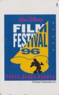 Télécarte Japon / 110-016 - DISNEY - FILM FESTIVAL TOKYO OSAKA NAGOYA ** MICKEY **  - Movie Japan Phonecard - Disney