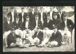 AK Mannschaft Im Cricket, The Australian Team 1909, Roger Hartigan, V. Ransford Und Warren Bardsley - Ansichtskarten