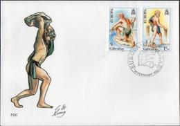 GIBILTERRA 1991 - EUROPAI - BUSTA FDC - NO VIAGGIATA - Gibilterra