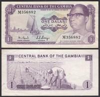 Gambia 1 Dalasi Banknote ND (1971-87) Pick 4e VF+ (3+)     (25323 - Bankbiljetten