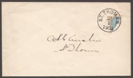 DWI  Sc 7 Diagonal Half On Cover St Thomas Jan 22, 1903 - Danemark (Antilles)