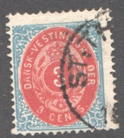 DWI  3 Cents  Sc 6b  Used - Denmark (West Indies)