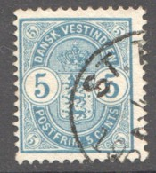 DWI  1900  5 Cents Sc 22 Used - Denmark (West Indies)