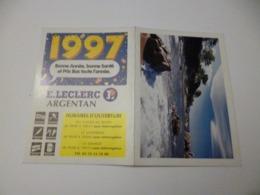 Petit Calendrier  De 1997(  Pub Magasin D'argentan) - Tamaño Pequeño : 1991-00
