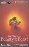 Télécarte Japon / 110-011 - DISNEY - FILM BEAUTY & THE BEAST ** LASER DISC ** NOT FOR SALE - Movie Japan Phonecard - NFS - Disney