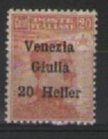 VENEZIA GIULIA 1919 FRANCOBOLLO SOPRASTAMPATO SASS. 31 MLH VF - 8. WW I Occupation