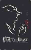 Télécarte Japon / 110-173139 B - DISNEY - FILM BEAUTY & THE BEAST ** BROADWAY MUSICAL ** - Movie Japan Phonecard - Disney