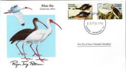 FDC GRENADA  GRENADINES  Birds  /  Oiseaux, Lettre De Première Jour, EUDOCIMUS ALBUS - Sperlingsvögel & Singvögel