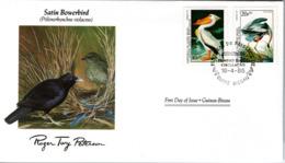 FDC GUINEA  BISSAU  Birds  /  Oiseaux, GUINÉE-BISSAU, Lettre De Première Jour,  PTILONORHYNCHUS  VIOLACEUS - Pelikane