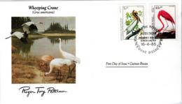 FDC GUINEA  BISSAU  Birds  /  Oiseaux, GUINÉE-BISSAU, Lettre De Première Jour,  GRUS  AMERICANA - Pelikane