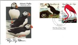 FDC NIGER  Birds  /  Oiseaux, Lettre De Première Jour,  FRATERCULA  ARCTICA - Vögel
