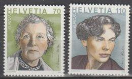 Suisse Europa 1996 N° 1509/ 1510 ** Femmes Celebres - Europa-CEPT