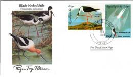 FDC NIGER  Birds  /  Oiseaux, Lettre De Première Jour,  HIMANTOPUS MEXICANUS - Vögel